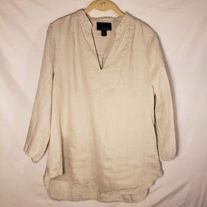 Cynthia Rowley Linen Kimono Style LS Shirt